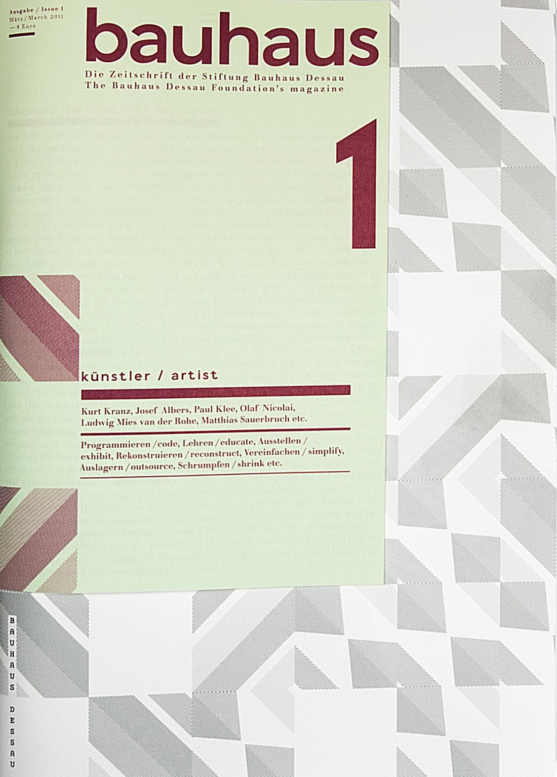 Bad Design Zeitschrift bauhaus magazine 1 artist bauhaus magazine issue 1 stiftung