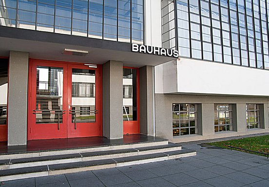 The main entrance Bauhaus Dessau