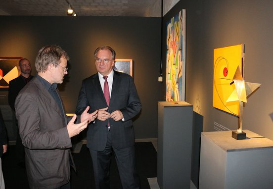 "Exhibition opening of ""Bauhaus. The Art of the Students"" with Prime Minister Dr. Reiner Haseloff & Head of the Bauhaus-Collection Wolfgang Th�ner, October 7th 2014"